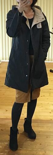 GUマスタードコーデュロイスカート