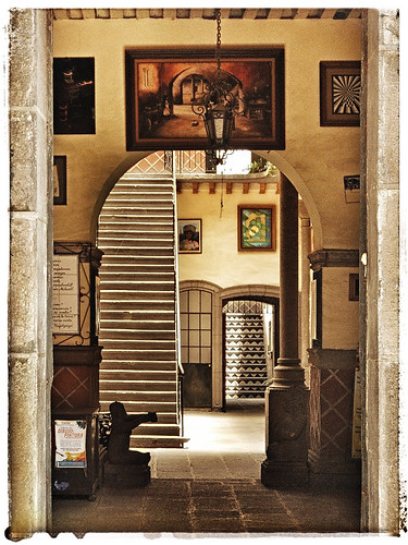 An entry way in Puebla, Mexico, run through the photo app Snapseed