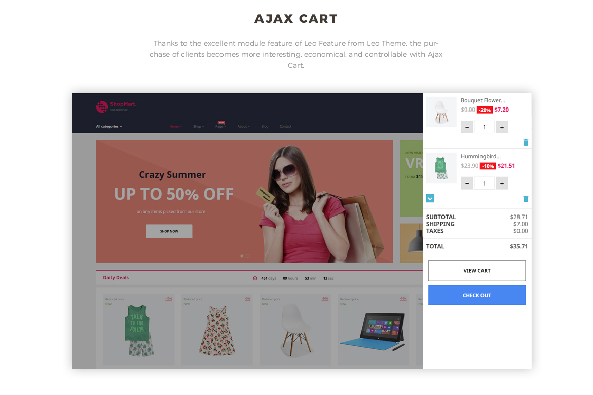 ajax add to cart - Prestashop 1.7 theme for hitech store