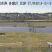 多摩川石原水位観測所ライブカメラ画像. 2018/12/19 10:14