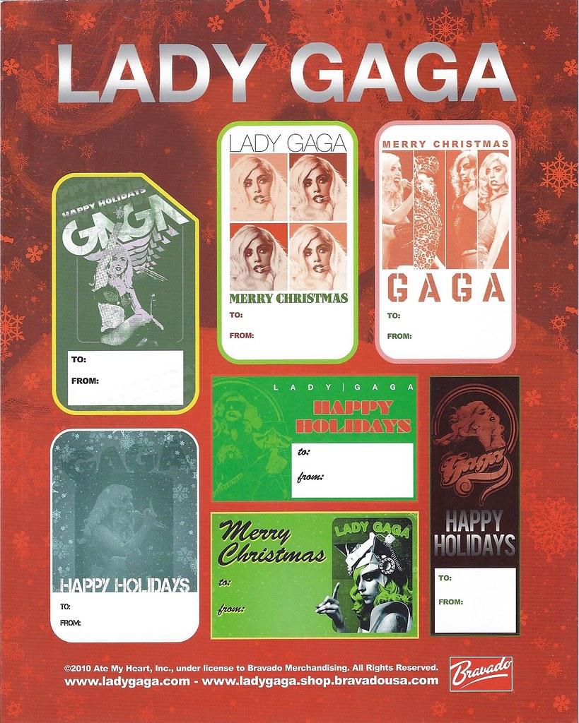 Printable Lady gaga gift tags
