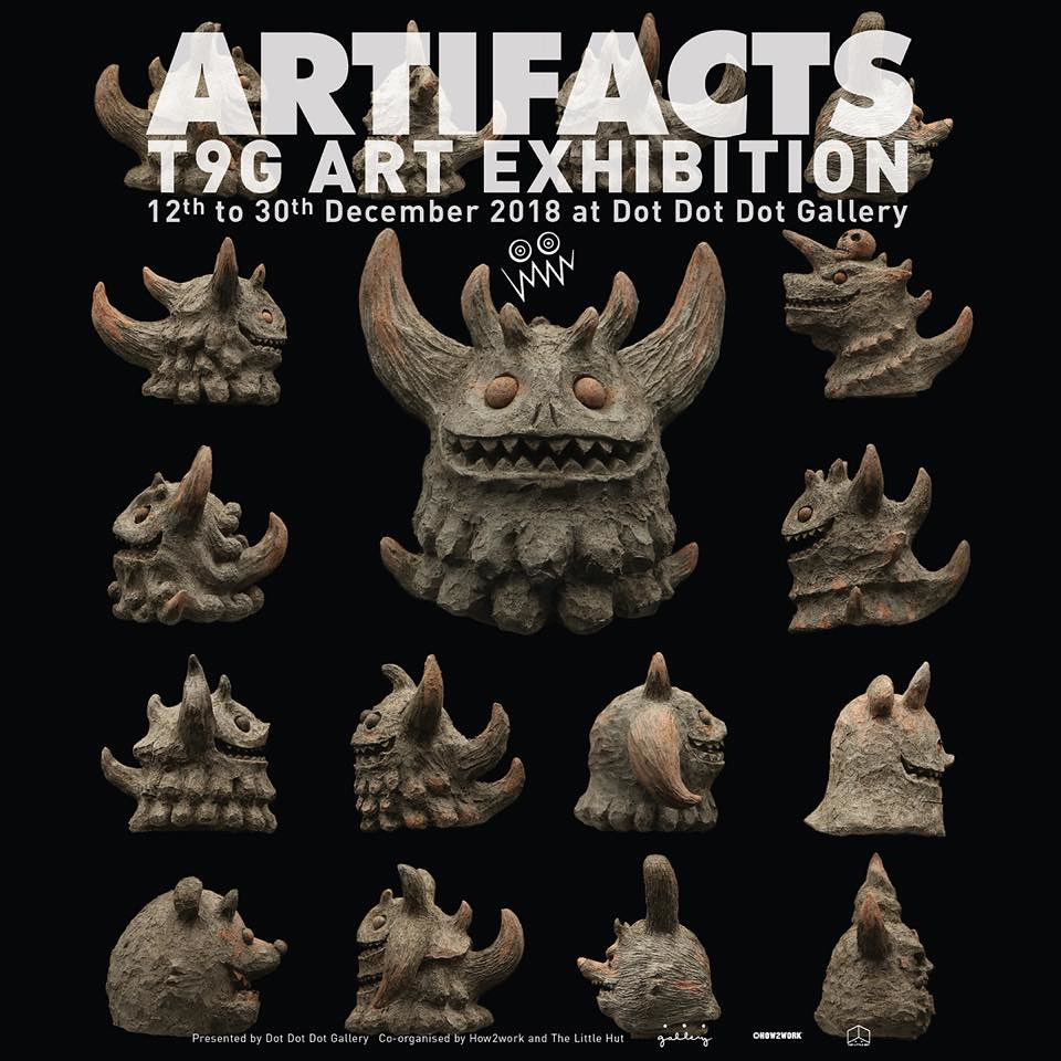 大量遠古怪獸出土!! T9G 超精彩藝術個展【ARTIFACTS - T9G Art Exhibition】at 香港Dot Dot Dot Gallery