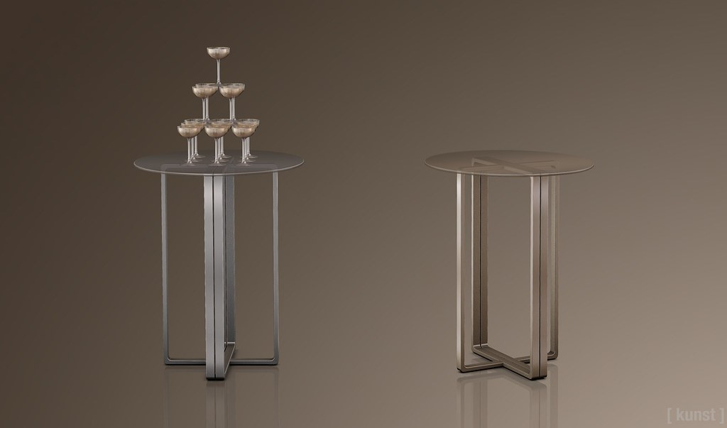 [ kunst ] – NIghtshade table & Champ glass tower