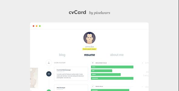 cvCard WP v1.4.1 - Responsive vCard Theme
