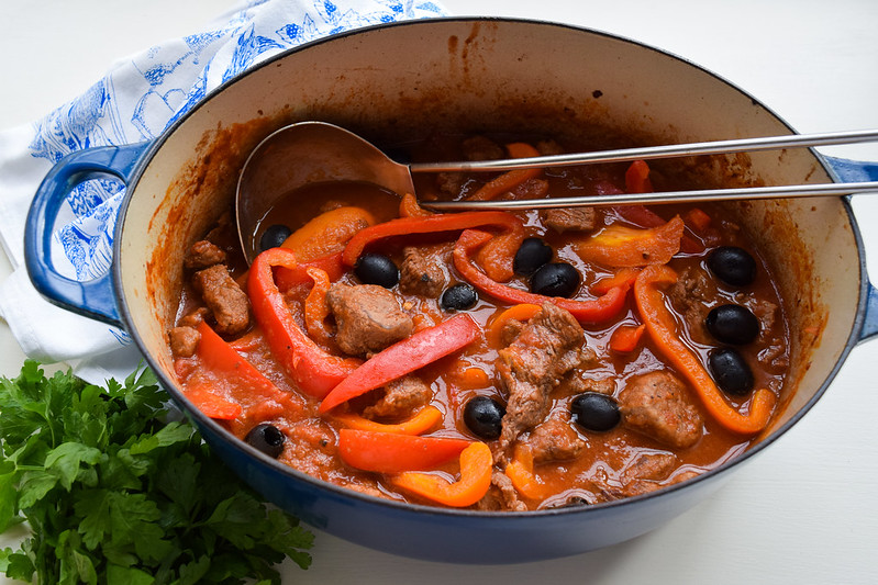 Beef, Tomato and Pepper Casserole