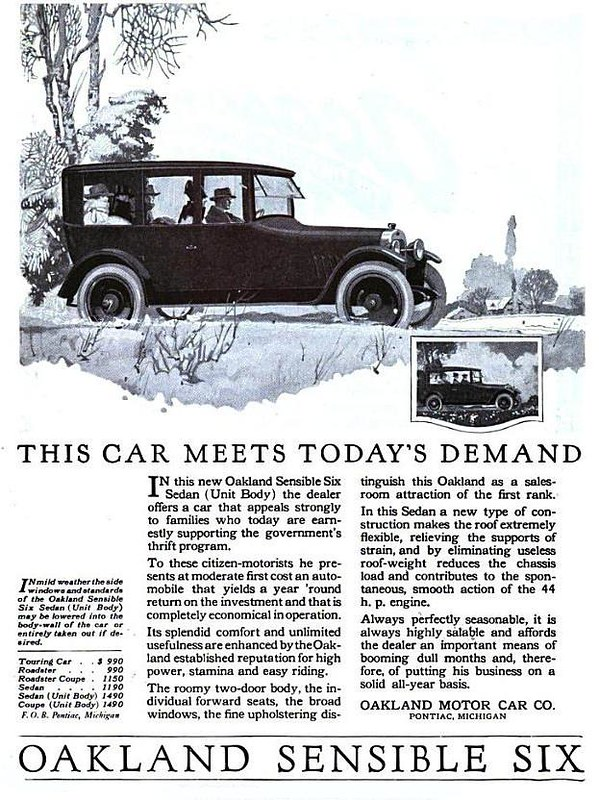 1918 Oakland Sensible Six