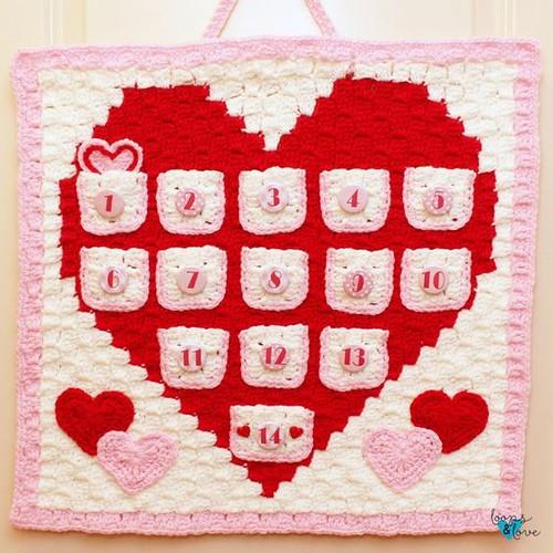 heart countdown calendar
