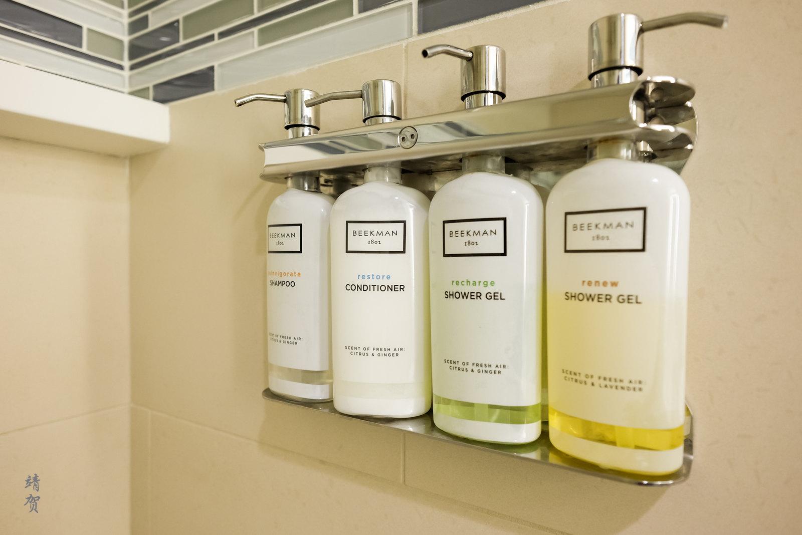 Wall mounted bath amenities