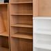 Tall oak bookcase comes with shelves E250
