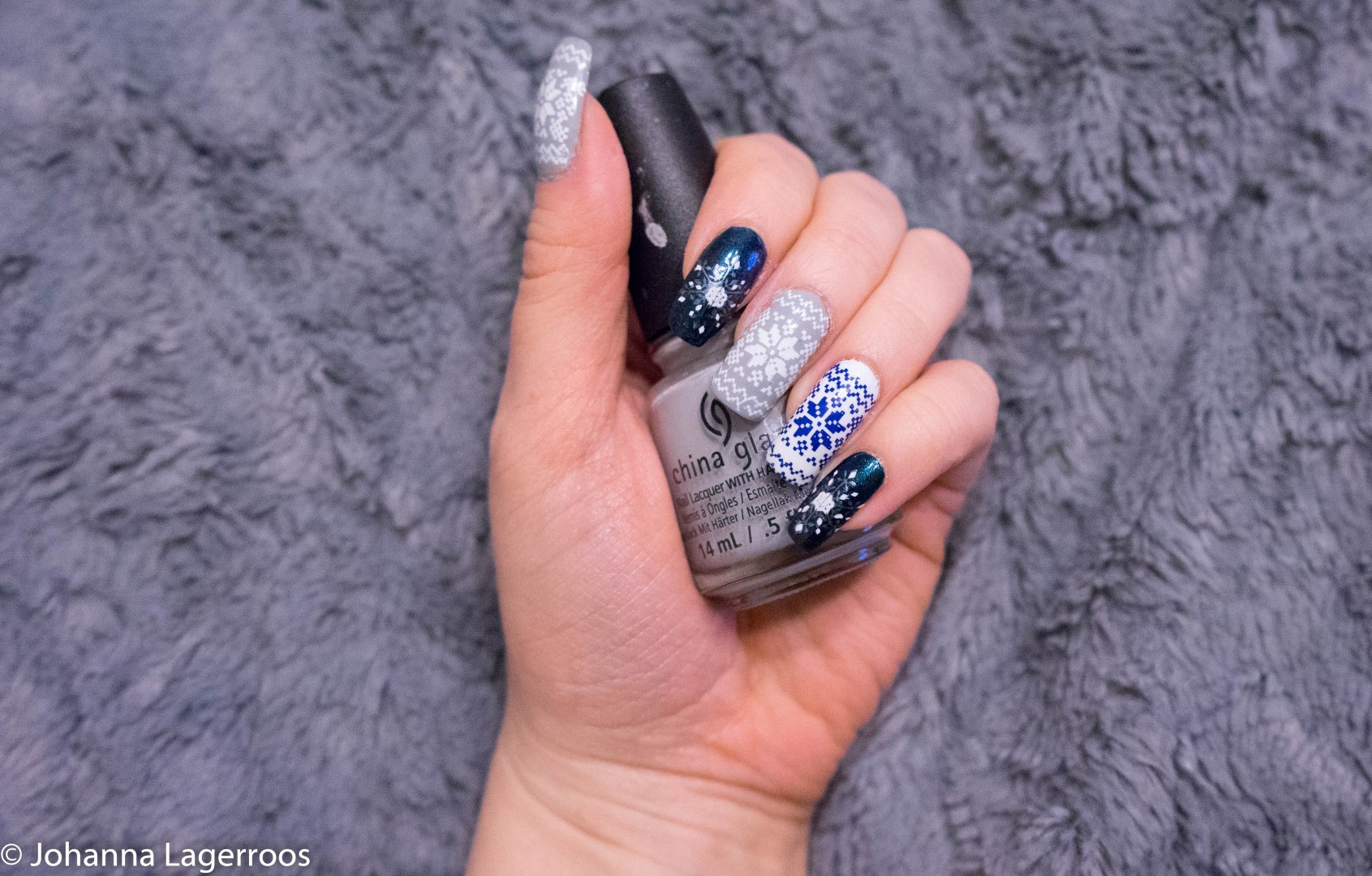 stamped winter nails