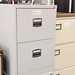 Two door filing cabinet with keys E75