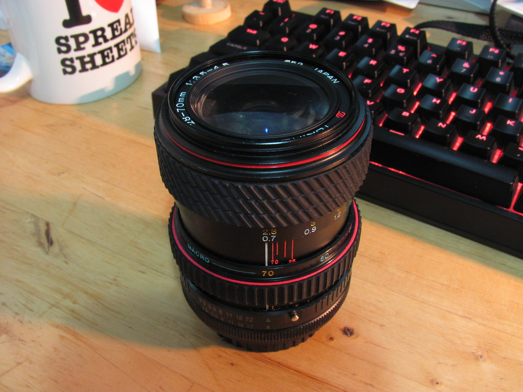 Tokina SD 28-70mm 1:3.5-4.5 lens - zoom ring repair