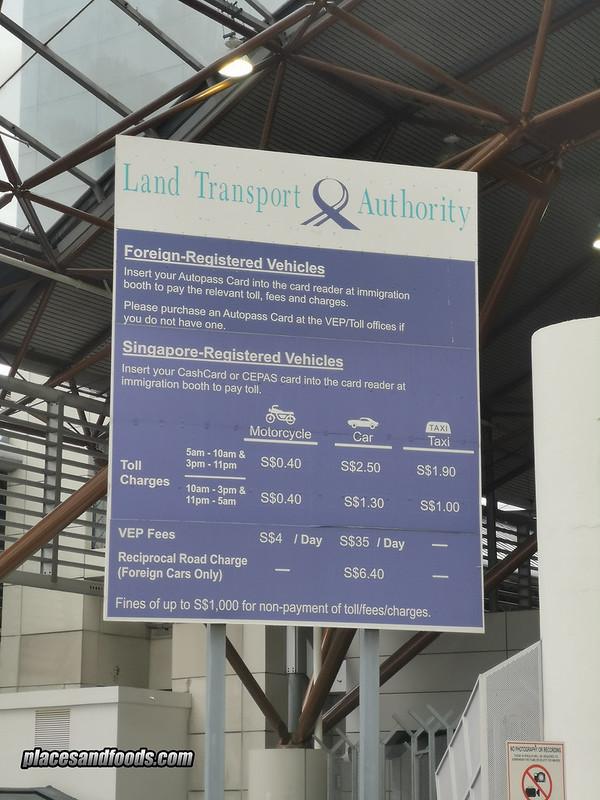 singapore tuas toll rates