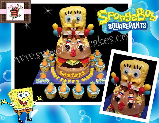 Spongebob Cake Collage by Dipali Sahasrabuddhe of Sweet Slice