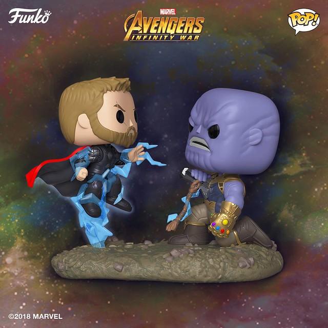 Funko Pop! Marvel: Movie Moments《復仇者聯盟3:無限之戰》索爾 vs. 薩諾斯 & 無限手套 Thor vs. Thanos & Gauntlet Dome