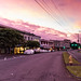 Hilo streets sunset Big island Hawaii Park