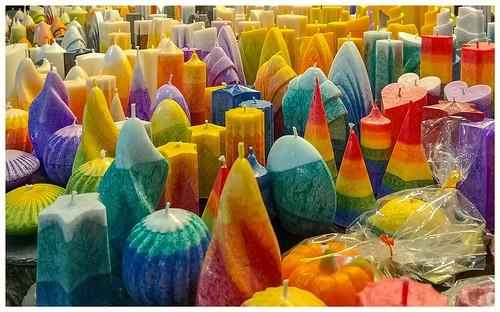 Kerzen in tollen Farben und Formen