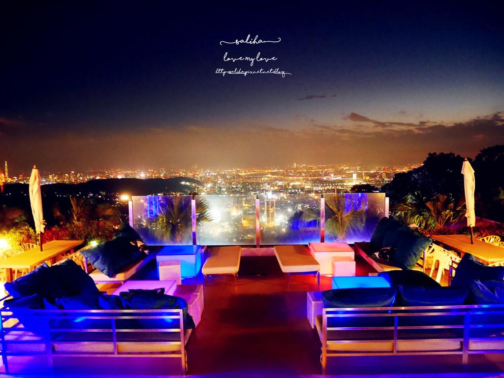 台北陽明山一日遊必吃必玩行程景點推薦THETOP屋頂上好吃景觀餐廳看夜景池畔 (2)
