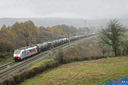 186 496 . DB Cargo  E 47068 . Gemmenich . 26.11.18.