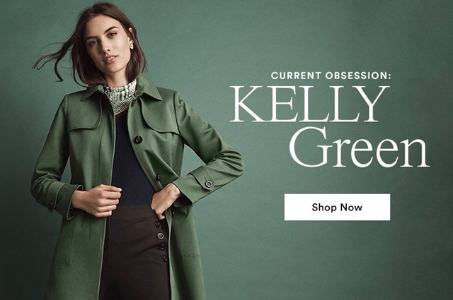 Ann Taylor Kelly Green Trench