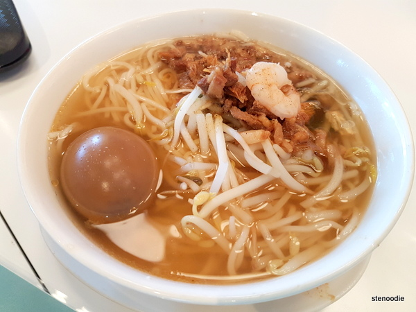 Tea Flavoured Minced Pork Soup with Noodles