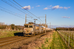 03 février 2019  BB 7369-7347  Train 489870 Miramas -> Bordeaux-Hourcade  Saint-Martin-de-Sescas (33) - Photo of Floudès