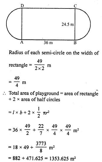 Areas related to Circles Class 10 RD Sharma