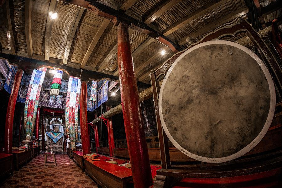 Молитвенный зал монастыря Пьянг