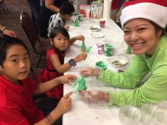 Hawaiian Electric at the HUGS Christmas Party – Dec. 15, 2018 – Keiki doing crafts at the Christmas party.