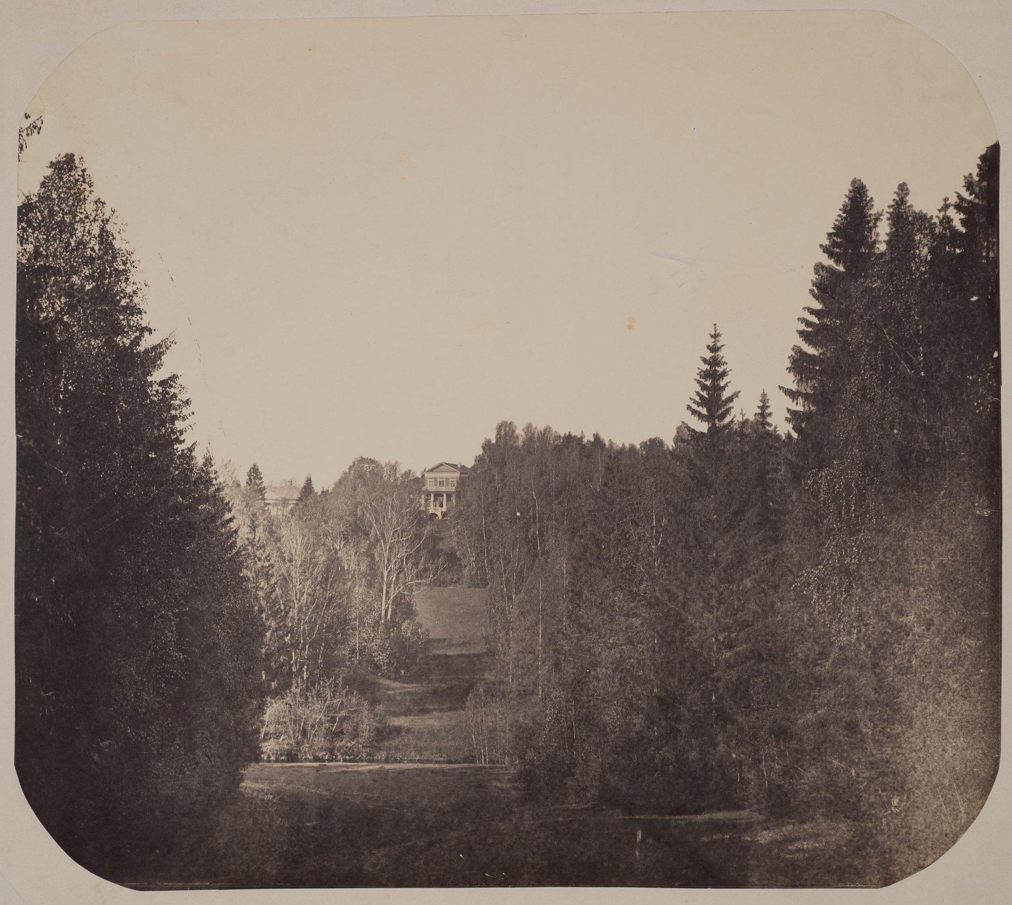 1860-е. Абрамцево, вид со стороны нижнего пруда