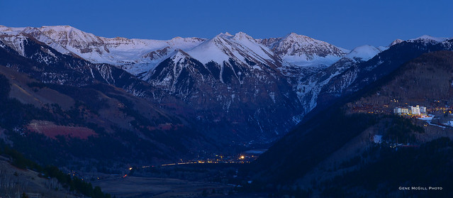 Telluride after sunset