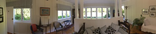 Panorama inside our room near Havelock North