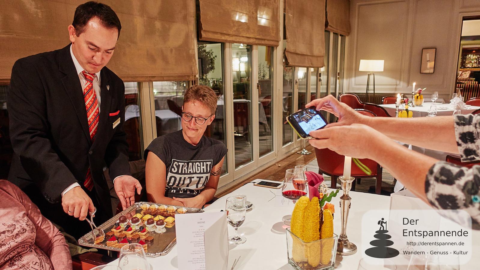 Pralinen nach dem Menü im Hotel Restaurant Erbprinz Ettlingen