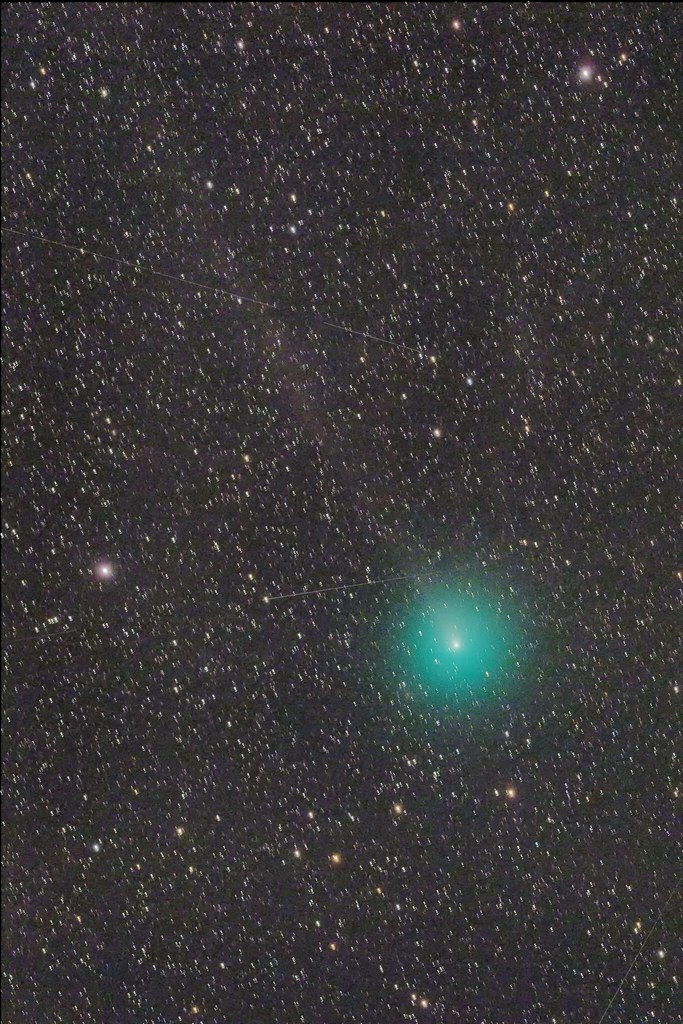 Comet 46P/Wirtanen, a long tail!