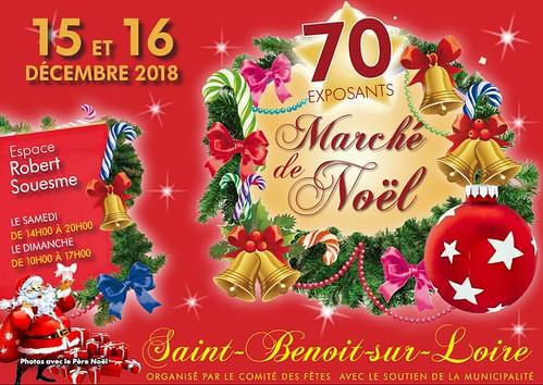 présence de Aux Portes de l'Universel au marché de Noël de St Benoit sur Loire (45)