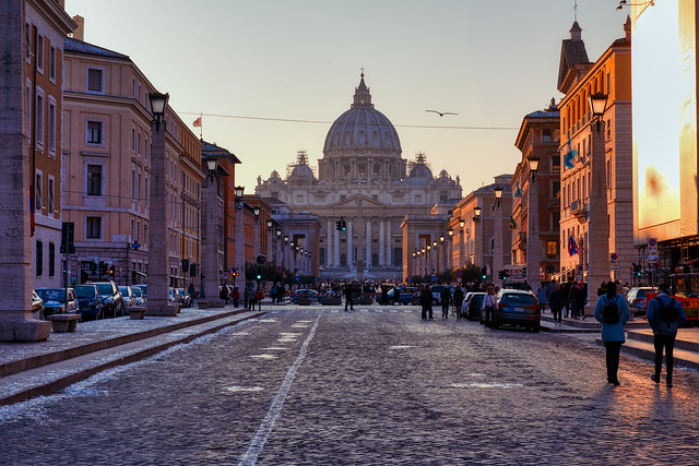 Sunset Over the Vatican City