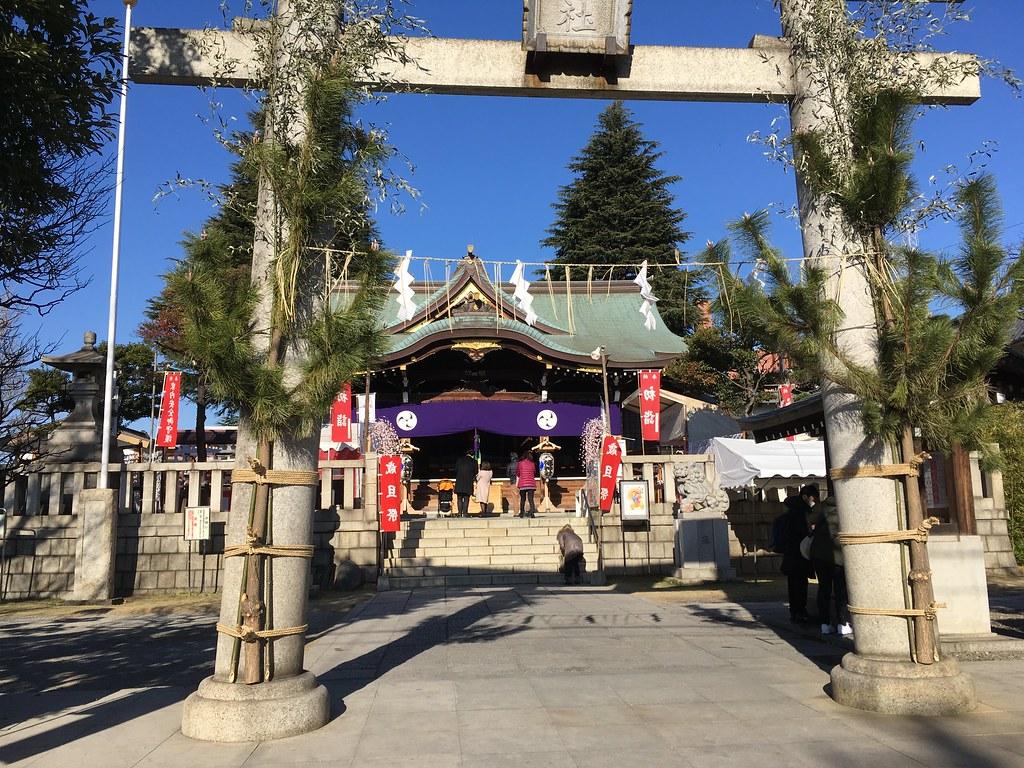 尾久八幡神社で初詣