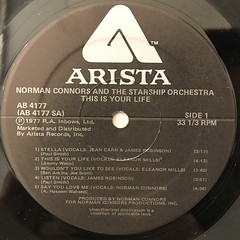 NORMAN CONNORS:THIS IS YOUR LIFE(LABEL SIDE-A)