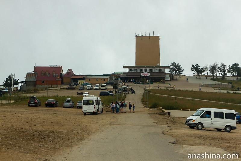 Верхняя станция канатной дороги «Мисхор — Ай-Петри» и площадка перед станцией, Крым