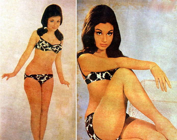 Bikini Evolution - Bollywood actress in Bikini or Swimwear - Sharmila (1)