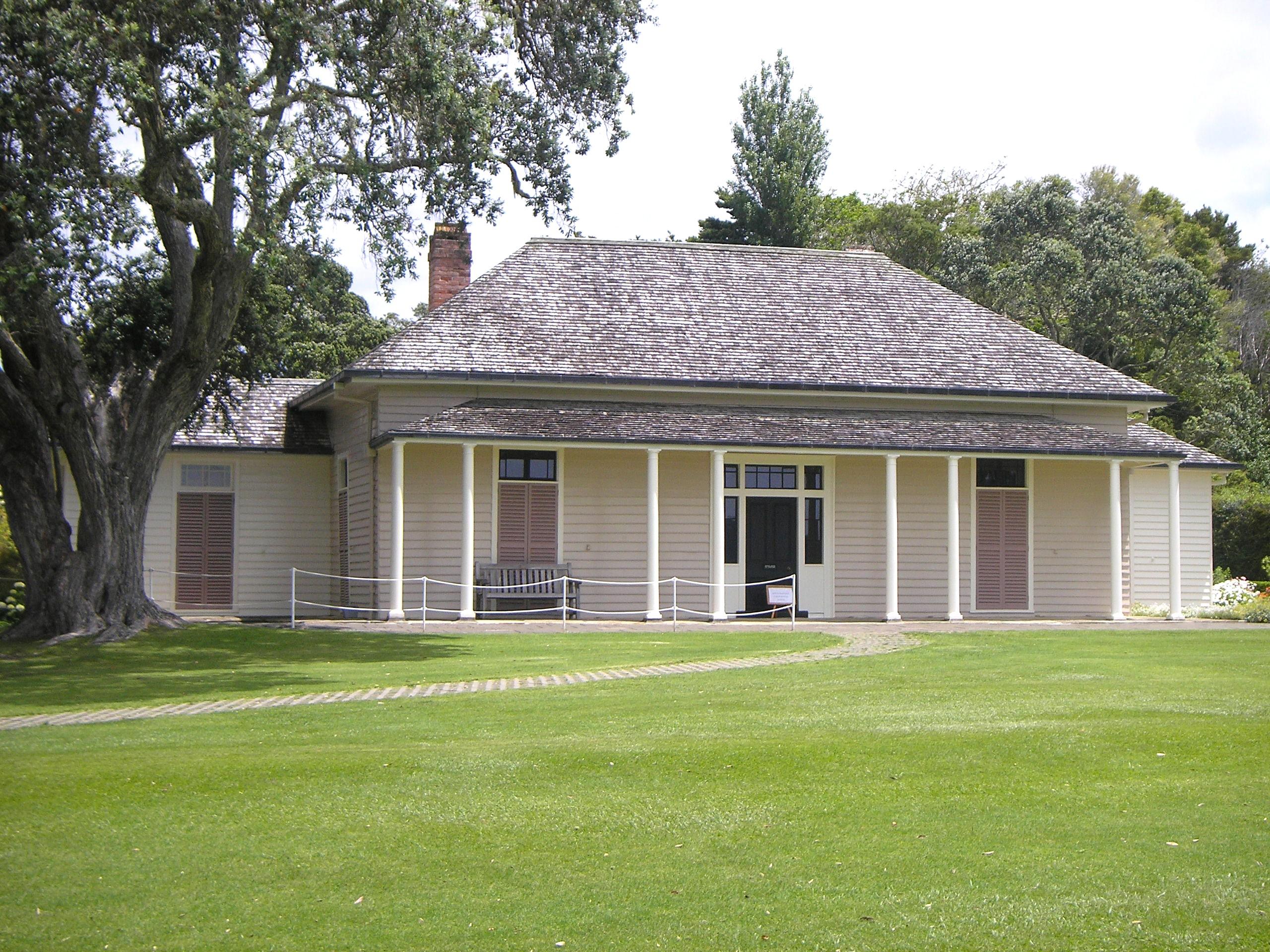 Treaty House, Waitangi, New Zealand. Photo taken by <a href=
