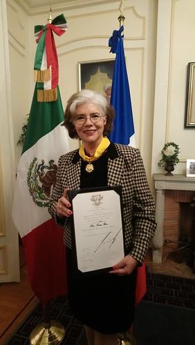 Dra. Sonia V. Rose recibe el reconocimiento de la Orden Mexicana del Águila Azteca