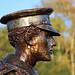 Norman Harvey VC - Statue in Profile