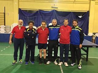 La rosa della Serie B1 Veterani con gli atleti dell'Asd Vigor Velletri