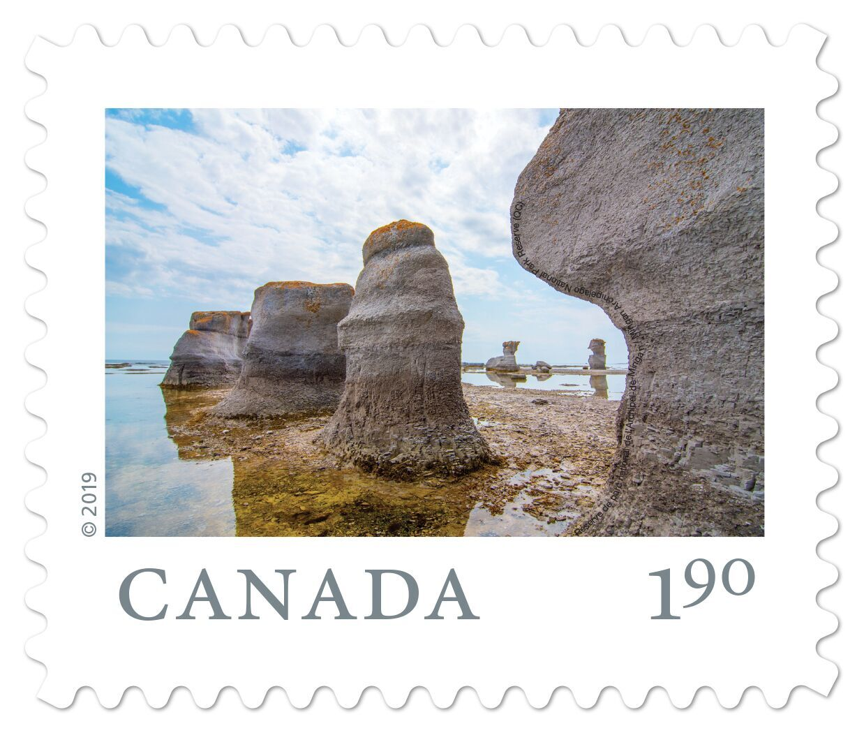Canada - From Far and Wide (January 14, 2019) Mingan Archipelago National Park Reserve, Quebec (oversized rate from booklet of 6)