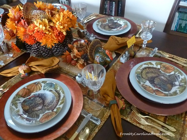 Thanksgiving Tablescape 2018 at FromMyCarolinaHome.com