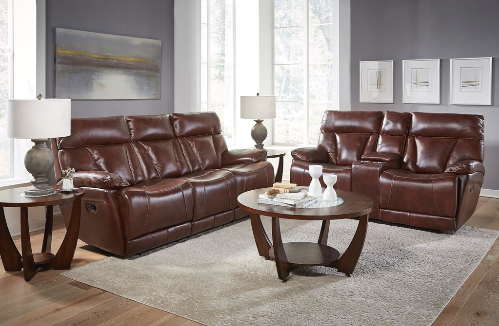 Athens Walnut Power Reclining Set_94006