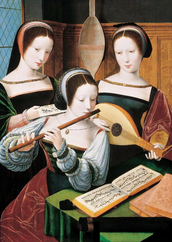 Master of the Female Half - Three Ladies Making Music. betw. 1530 and 1550-60