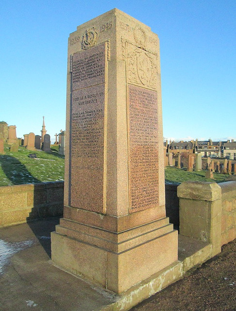 Peterhead Second World War Memorial Dedication