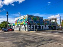 I GAVE MYSELF TIME Mural, Portland, Oregon